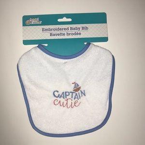 Captain cutie baby bib